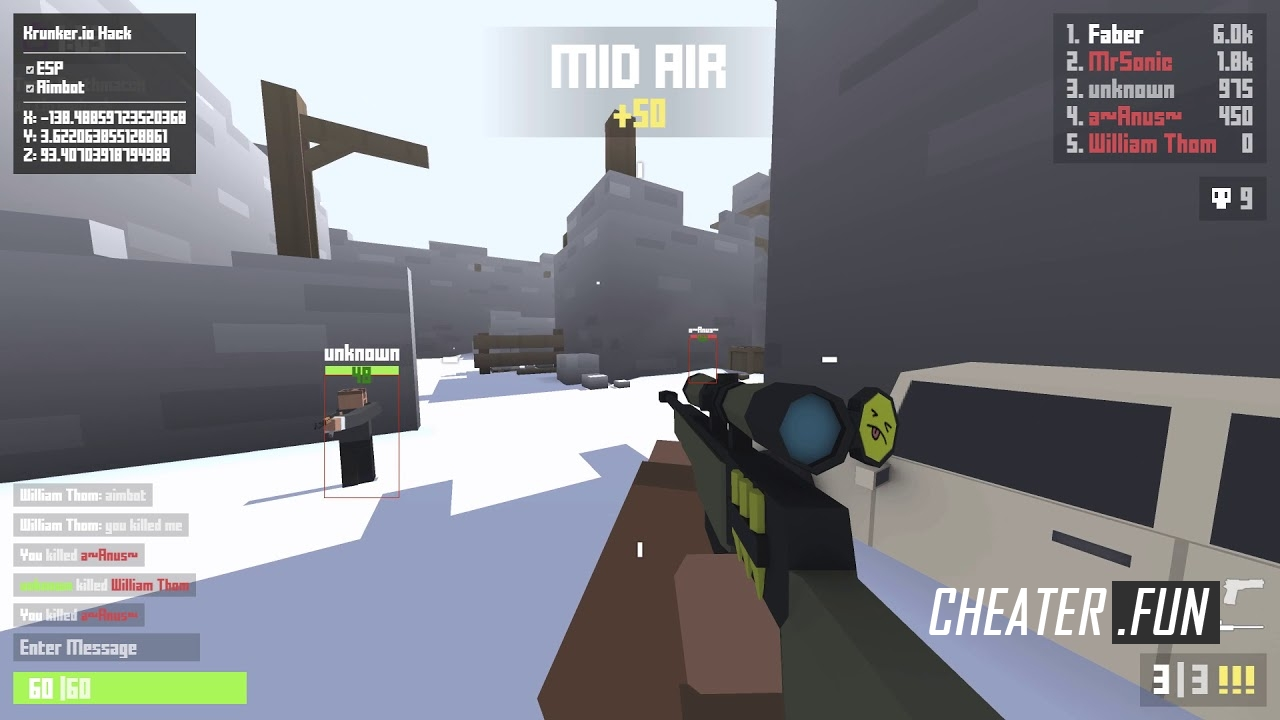how to get aimbot krunker.io