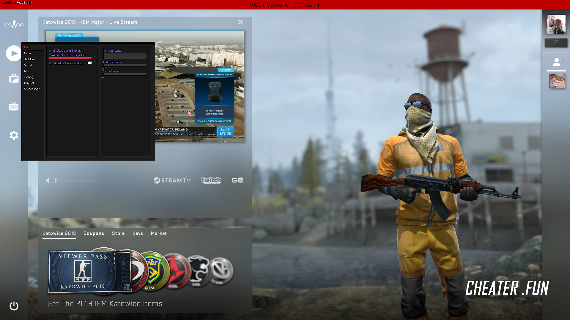 Download cheat for CSGO PivoWare - HVH hack free
