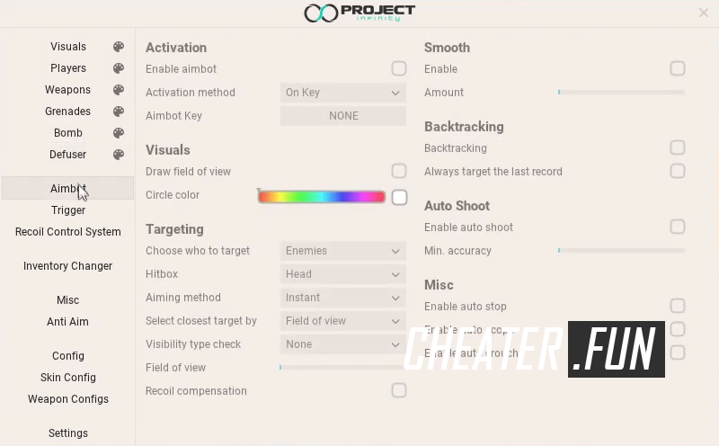 Download cheat for CSGO Project Infinity - private legit