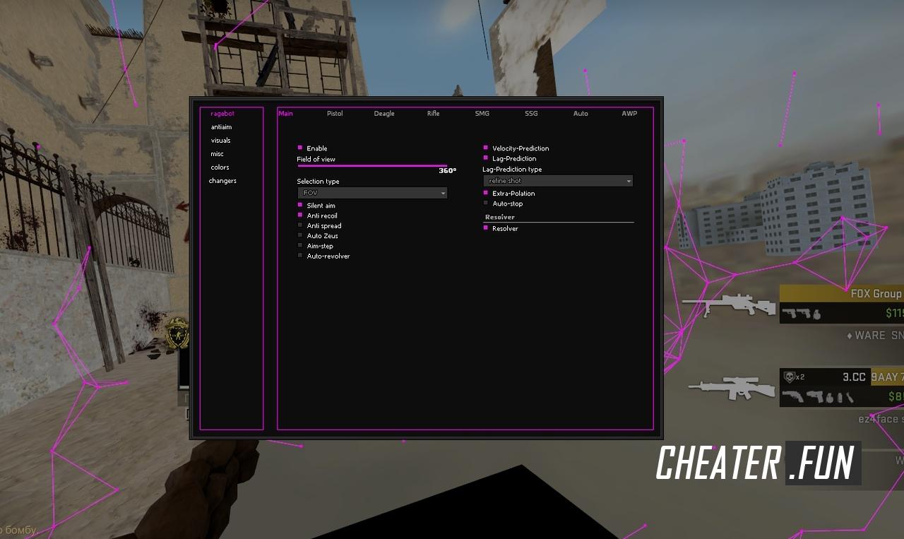 Download cheat for CSGO SNAKEWARE - HVH + CFG crack free hack
