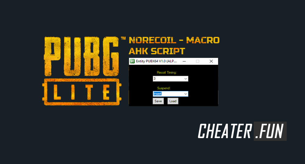 Download cheat for PUBG Lite - Norecoil (Macro) AHK Script