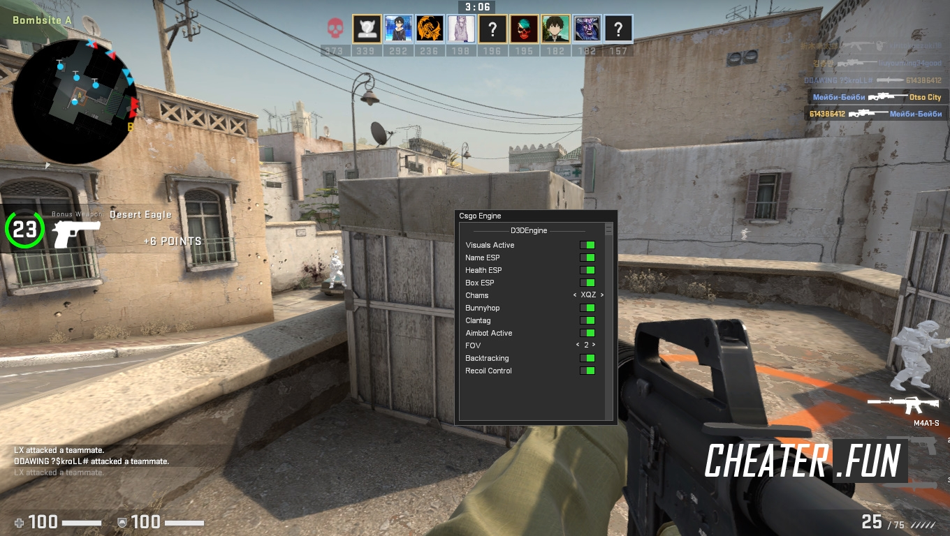 Download cheat for CSGO D3DEngine - ESP, BunnyHup, ClanTag